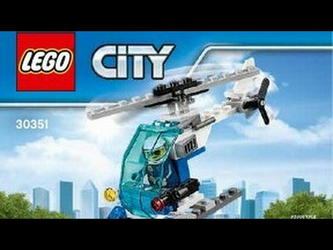 2017 Lego City Police Helicopter Instruction 30351 Youtube