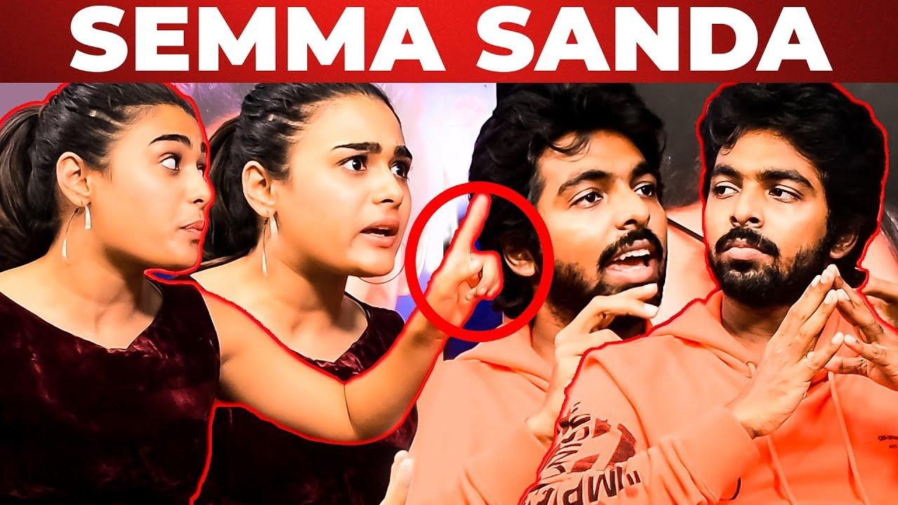 Download SEMMA SANDA : GV Prakash And Shalini Pandey On-Screen Fight Before Anchor | WV 86