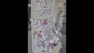 Making flowers & card using Arianna Blooms from Heartfelt creations