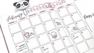 February Bullet Journal Set Up Plan With Me! (Leuchtturm)