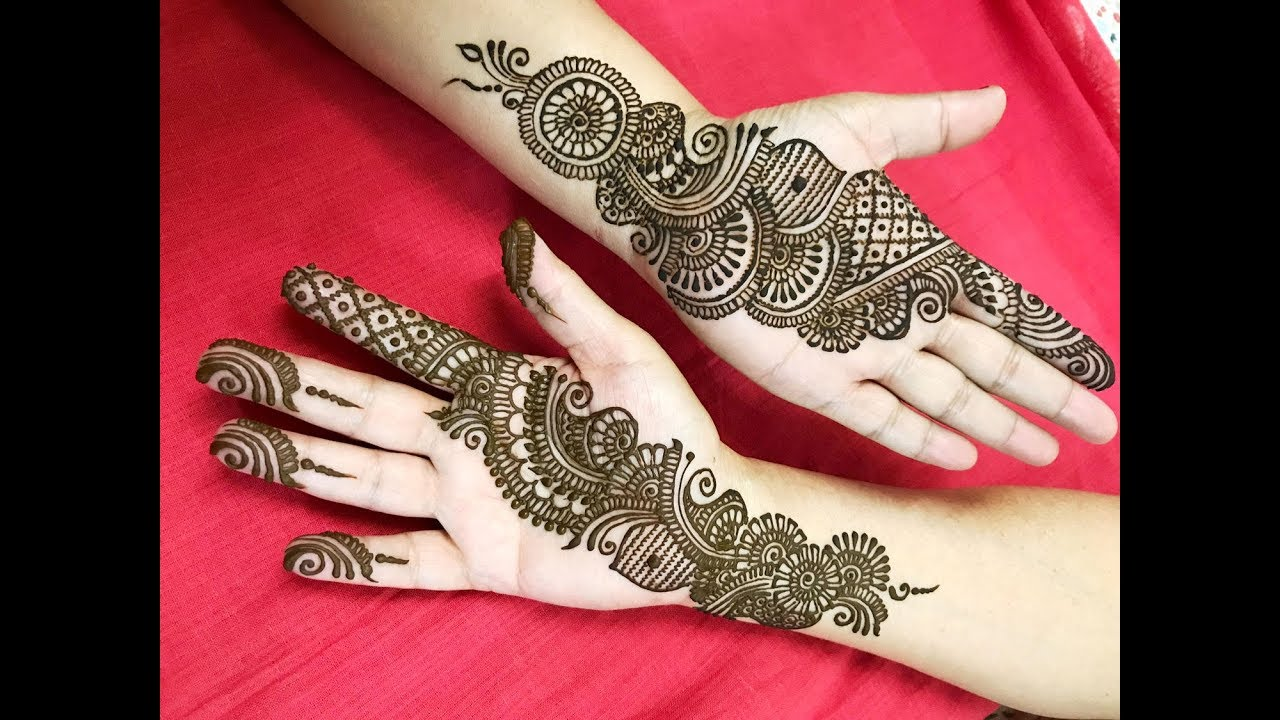 Stylish Arabic Henna Tattoo Mehndi Design Easy Simple Beginner