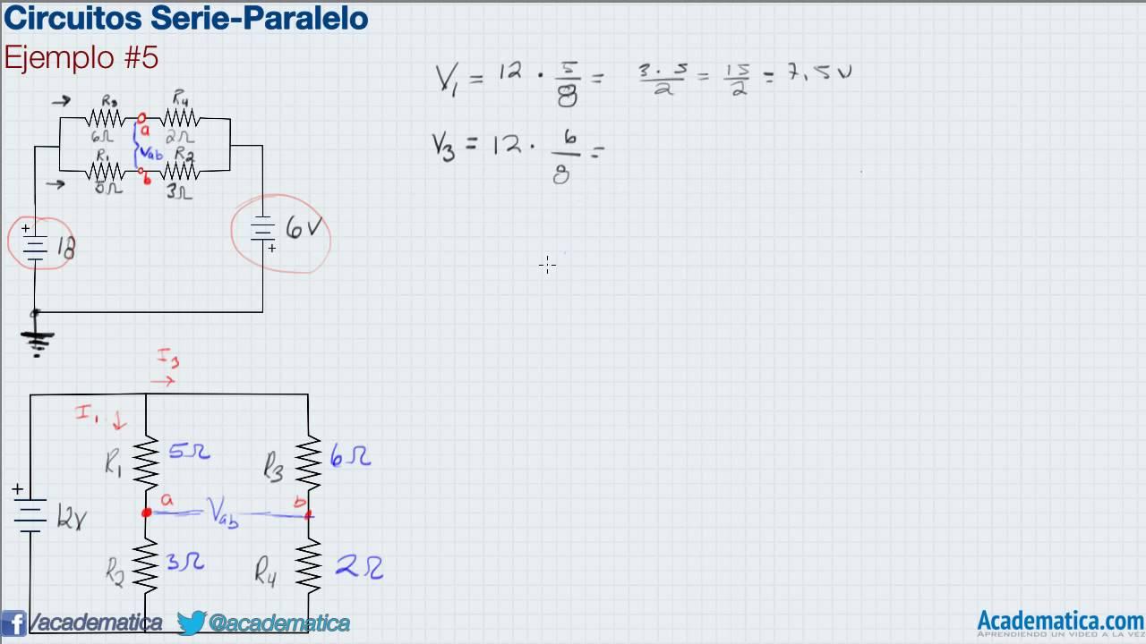 Circuito En Paralelo Ejemplos : Circuitos serie paralelo ejemplo youtube