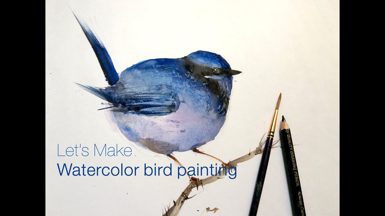 How To Paint Watercolor Bird Painting