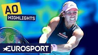 Angelique Kerber vs Danielle Collins Highlights   Australian Open 2019 Round 4   Eurosport