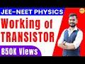 Working of transistor | npn transistor