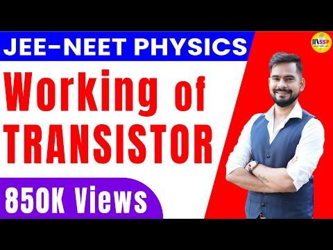 Working of transistor   npn transistor