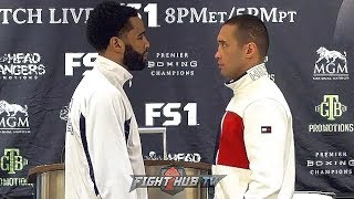 LAMONT PETERSON & SERGEY LIPINETS GO FACE TO FACE AT FINAL PRESS CONFERENCE - FULL FACE OFF VIDEO