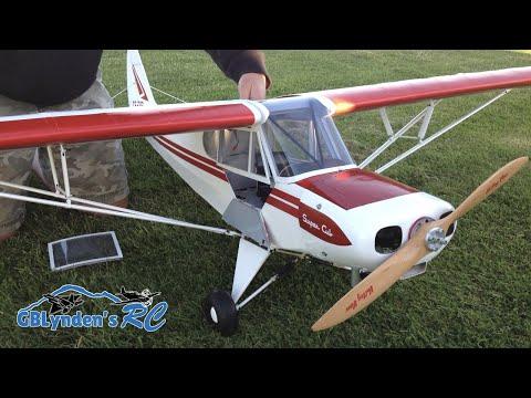 Hangar 9 Super Cub 1/4 Scale PA-18 RC Plane - Super Cub ARF with a VVRC 40 Twin Engine