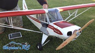 hangar 9 super cub 1 4 scale pa 18 rc plane super cub arf with a vvrc 40 twin engine