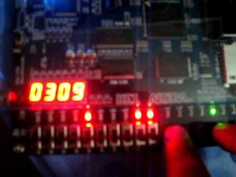 Digital Alarm Clock on FPGA (Altera DE1 board, Cyclone II)