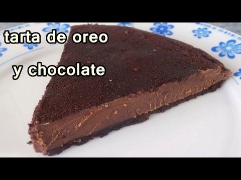TARTA DE OREO Y CHOCOLATE - Recetas de Postres Faciles y Rapidos y Economicos