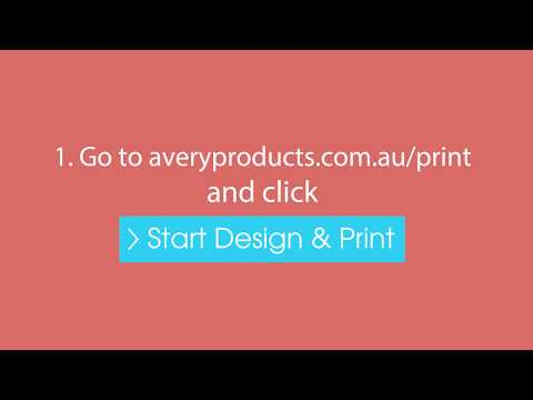 Design & Print Template Software | Avery Australia