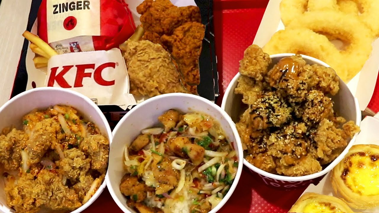 KFC Thailand Taste Test: Trying the Thai Food Menu at KFC ...
