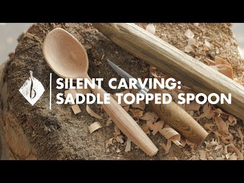 Silent Carving   Saddle Topped Spoon