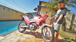 Pintei A Moto Nova Do Meu Amigo Inteira De Rosa !
