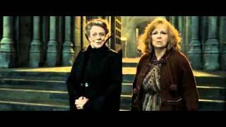 Гарри Поттер и Дары Смерти - защита школы Хогвартс