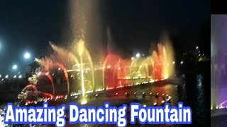 Amazing Dancing Fountain || Water Show at minar e Pakistan ,Greater Iqbal park lahore