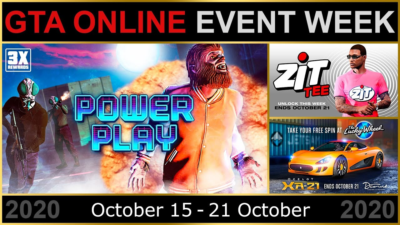 Gta Online Event Week 3x Gta Rp In Power Play 2x Gta On Special Cargo Sell Missions More Youtube