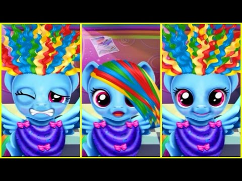 MLP My Little Pony Rainbow Dash Twilight Sparkle & Applejack Funny REAL HAIRCUTS Compilation Game