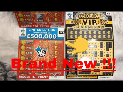 NEW £500000 RED Scratch Cards VS VIP Cashwords National Lottery **