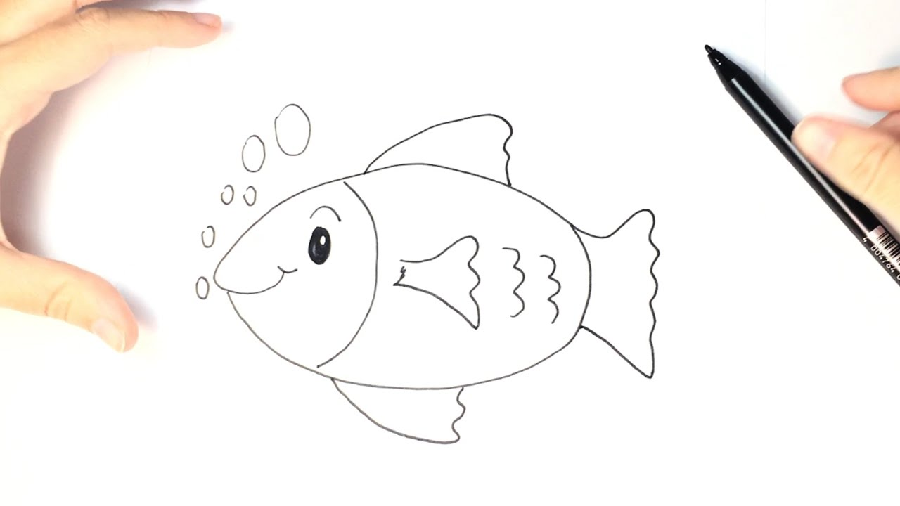 How to draw a fish for kids youtube for Como hacer un lago para peces