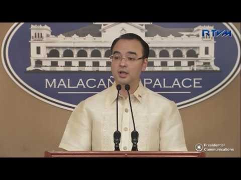 Press Briefing of Senator Allan Peter Cayetano, 10-28-2016 at the Malacanang Press Office