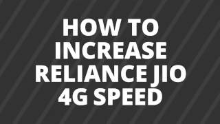 high speed 4g internet setting for reliance jio