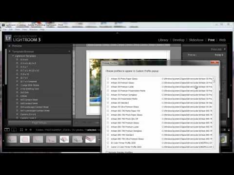 How to Add Printer Profiles to Lightroom for Windows