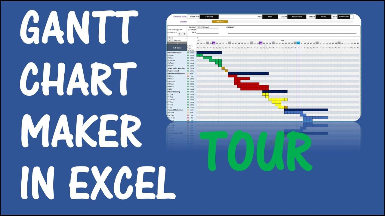 Gantt chart maker excel template v1 tour youtube nvjuhfo Images