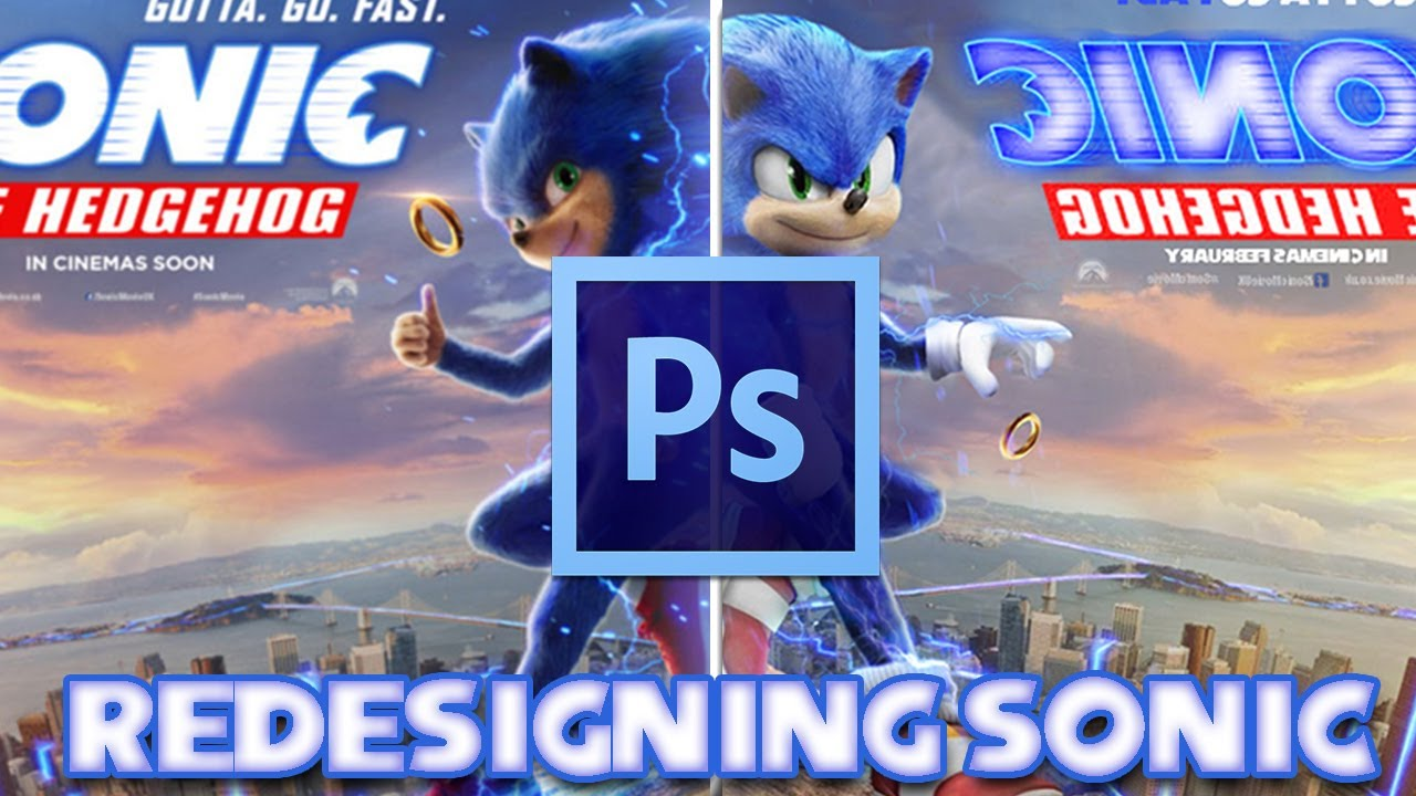 Redesigning The Sonic The Hedgehog Movie Poster Youtube