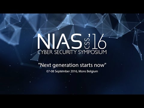 "NATO Cyber Security Symposium, NIAS'16 ""Next generation starts now"""