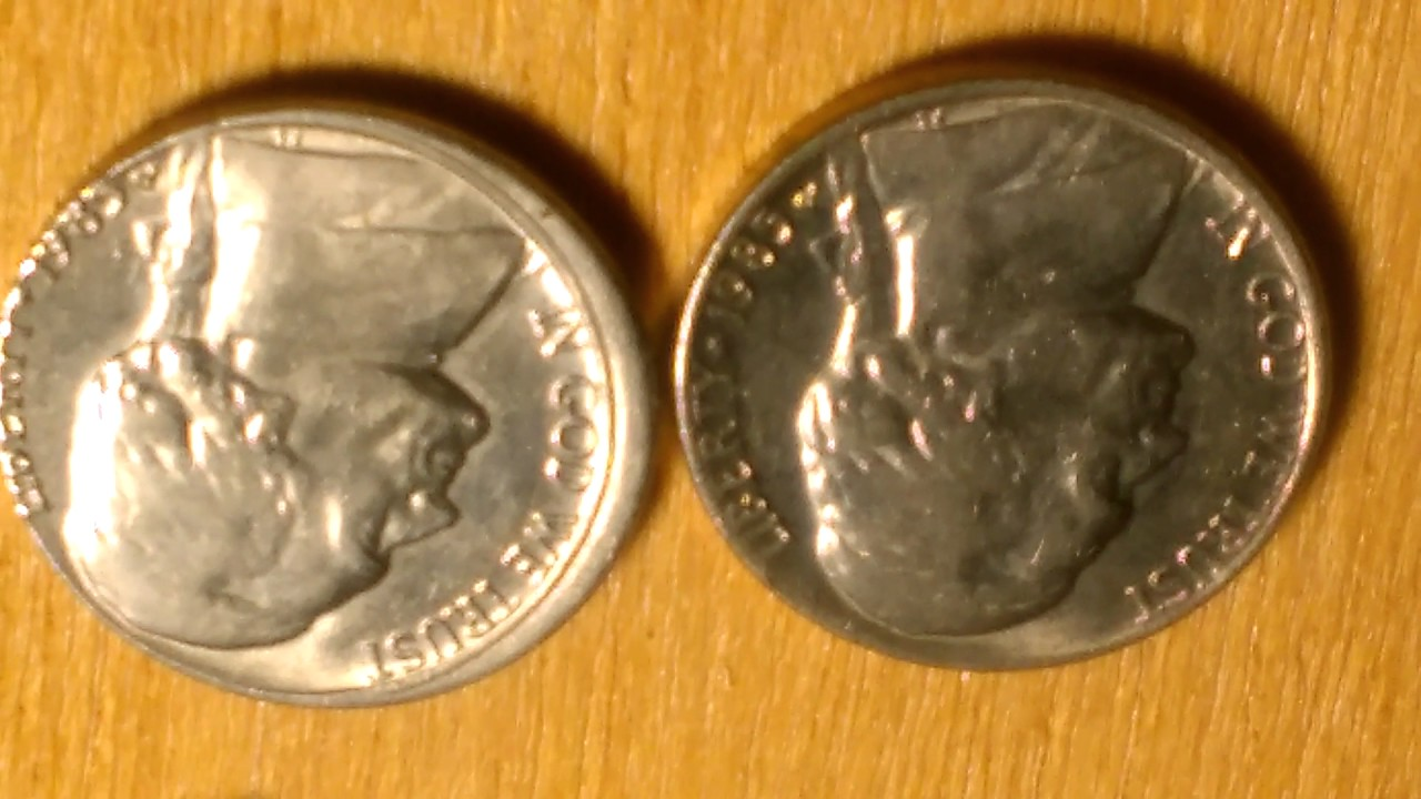 1985 nickel Jefferson Error - YouTube