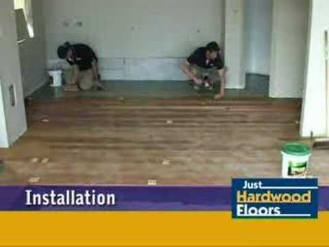 Just Hardwood Floors Timber Floor Installation Over Concrete Youtube