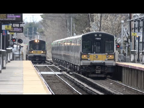 LIRR - Farmingdale - Trains Meet At The Station