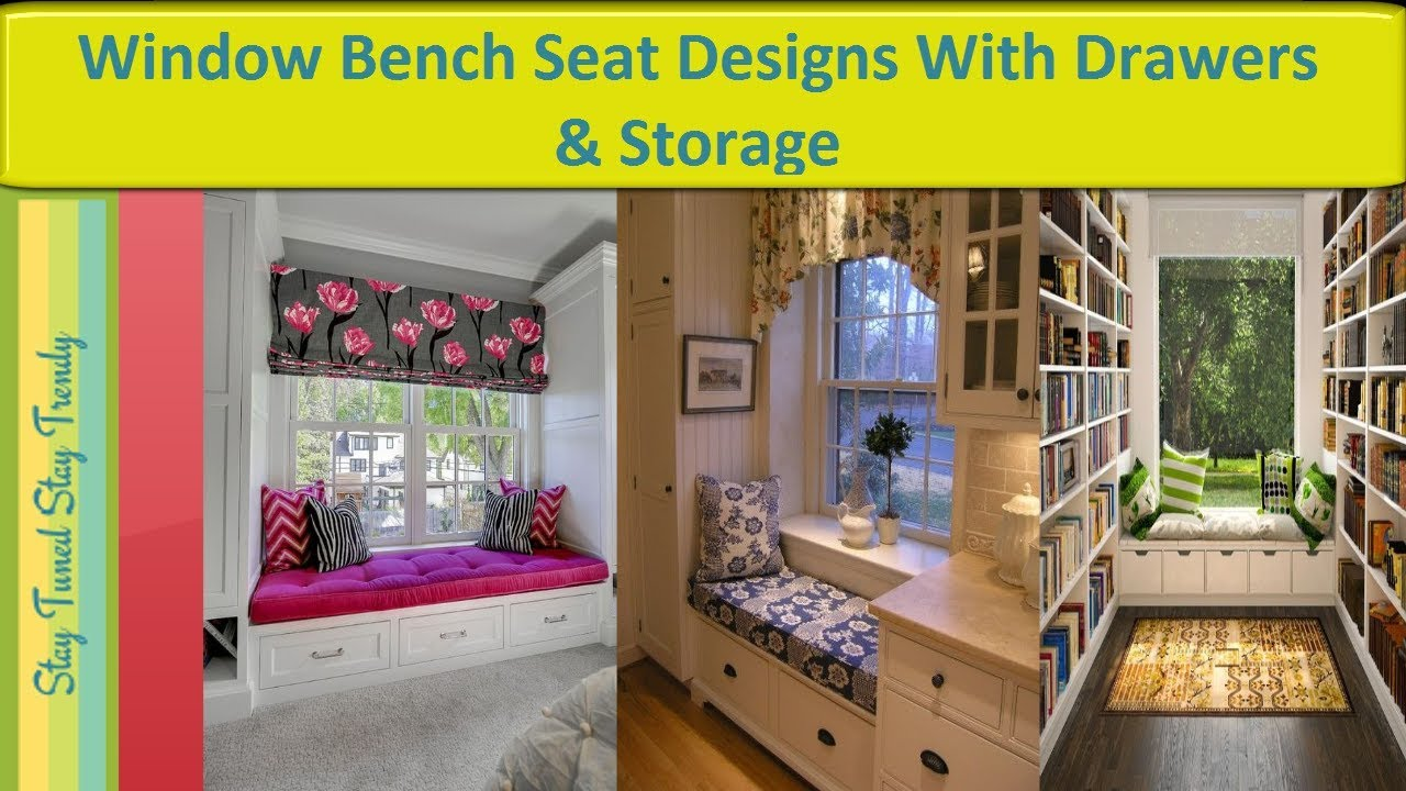 Window Bench Seat With Drawers Storage Bedroom Bay Designs