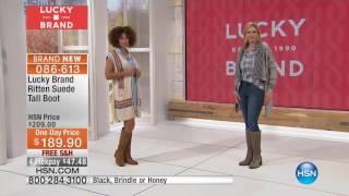 Lucky Brand Ritten Suede Tall Boot  Regular Shaft