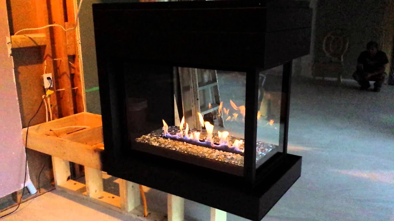 Montigo 3 sided fireplace - YouTube