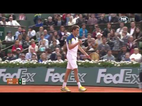 Roger Federer v. Gilles Simon | RG 2013 R4 Highlights HD
