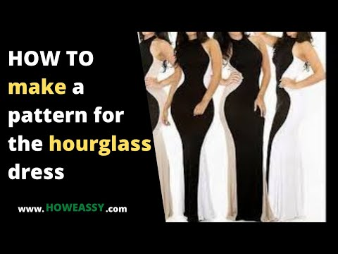 HOW TO make a pattern for the hourglass dress - YouTube