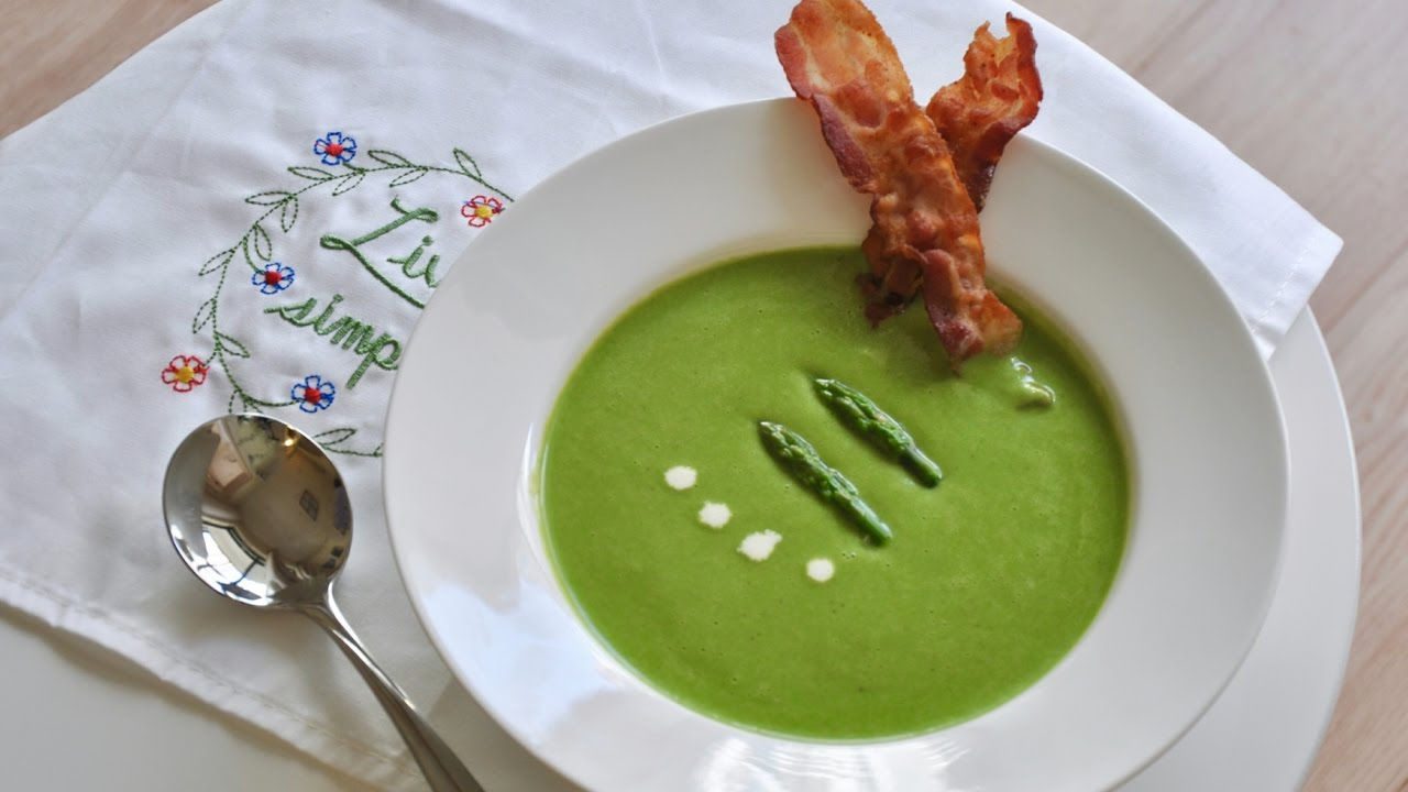 how to make asparagus soup youtube