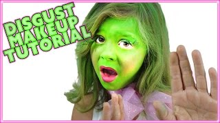 inside out disgust makeup tutorial disney pixar easy for kids smelly belly tv