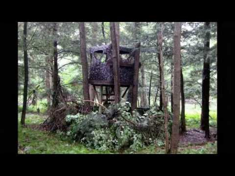 BEST HUNTING  BLIND ELEVATED SET UP TECHNIQUES 2013