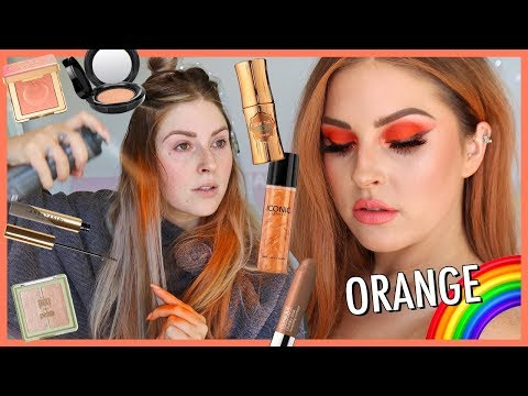 orange-monochrome-makeup-🍊🌈-rainbow-series