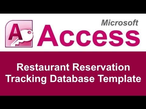 Microsoft Access Restaurant Reservation Tracking Database Template