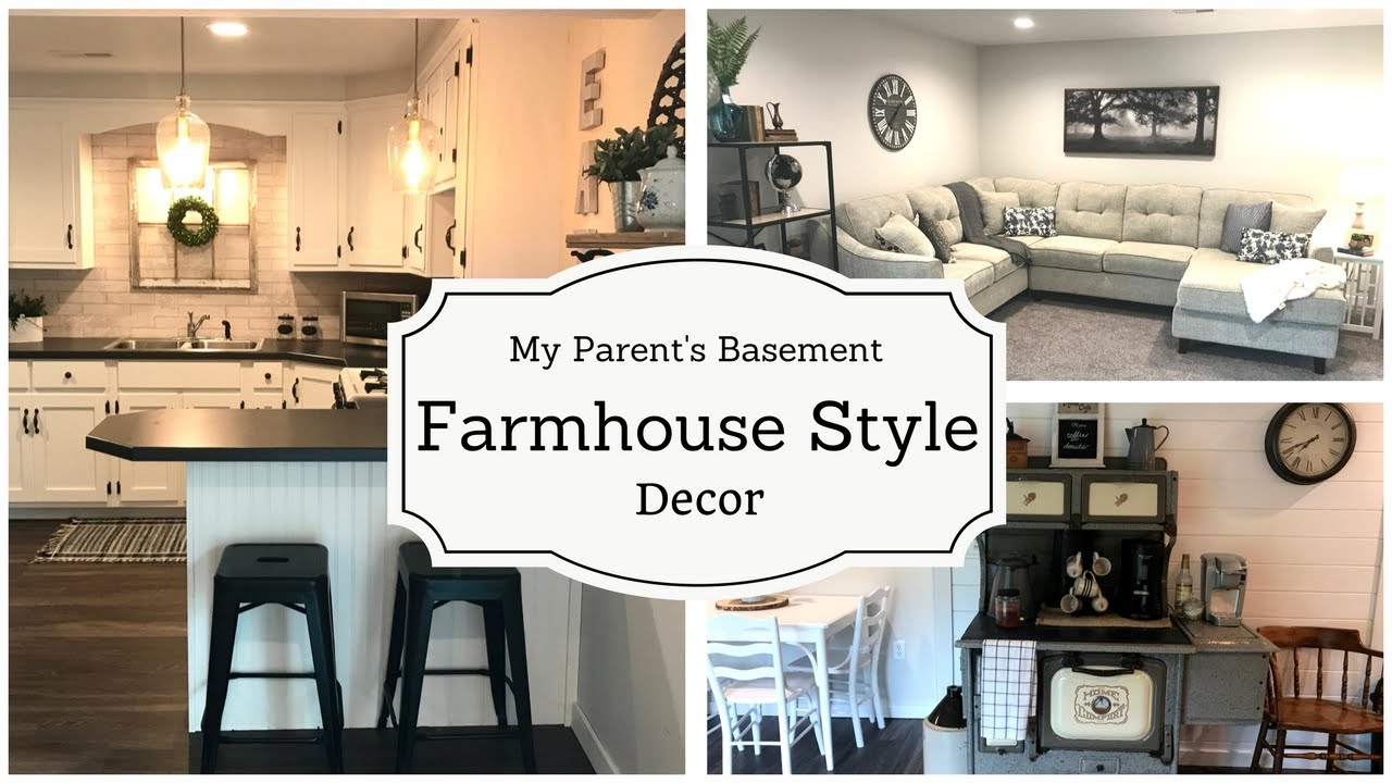 Farmhouse style decor basement project episode 2 youtube - What is farmhouse style ...