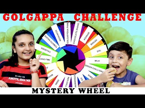 GOLGAPPA CHALLENGE Mystery Wheel #Fun Aayu and Pihu Show