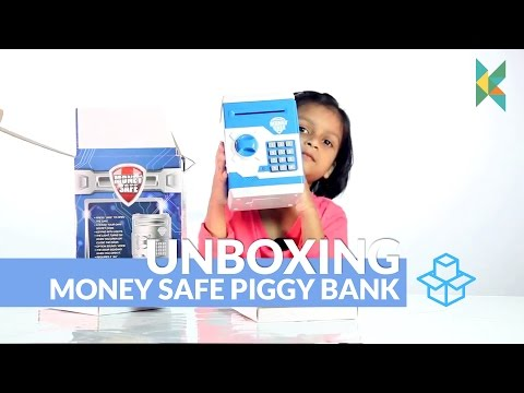 Money Safe Piggy Bank ATM Type Box Electronic Secret Code Lock Kids Gift India