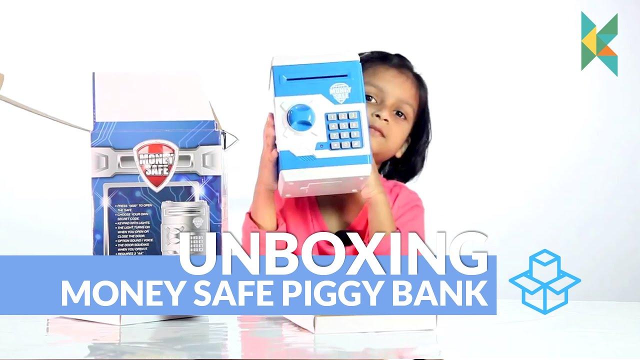 Money Safe Piggy Bank Atm Type Box Electronic Secret Code Lock Kids Wiring Safety