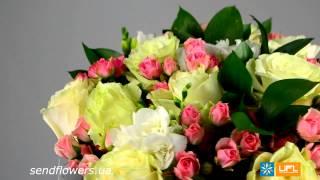 Букет Бело-розовый. Букет из роз. SendFlowers.ua(Заказать букет Бело-розовый здесь http://www.sendflowers.ua/product/belo_rozoviy Это роскошный подарок для невесты, мамы, жены..., 2014-04-30T17:14:13.000Z)