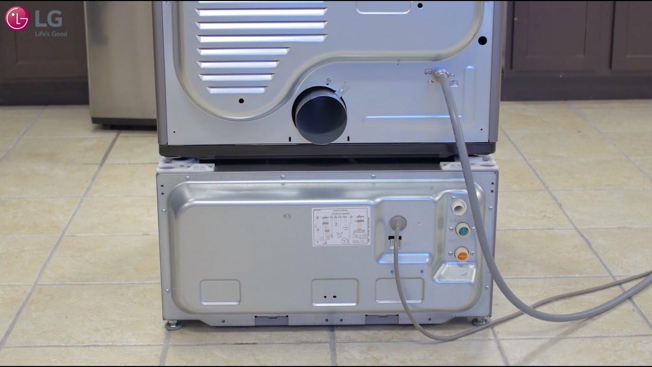 Lg Sidekick Installation Under A Dryer Top Load